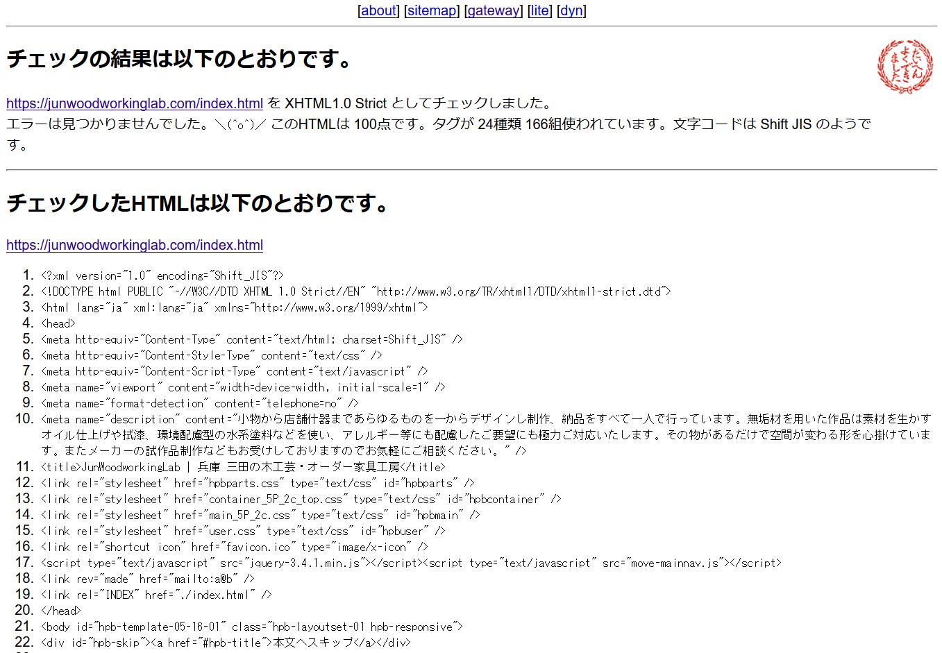 html-lintのキャプチャ